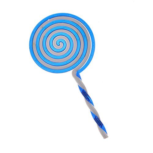 kowaku Sweet Lollipop Candy Sugar Prop Disfraz de Fiesta Elegante Baby Shower Decoracin de Cumpleaos - Azul, Un tamao
