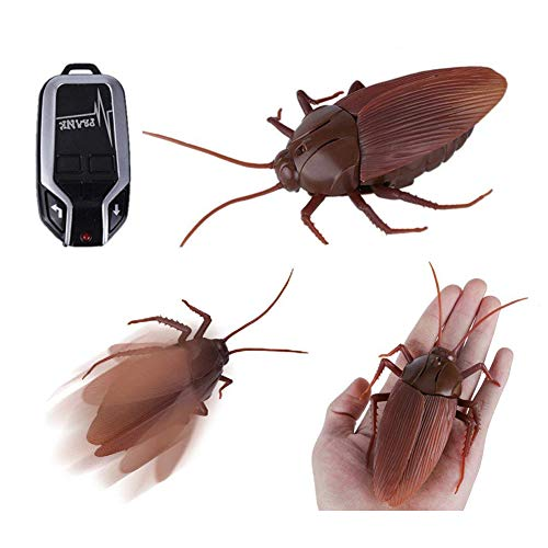 Bhbuy [Upgraded Version] Remote Control Cockroach Toy Fake RC Infrared Toys Prank Joke Gift Scary Trick