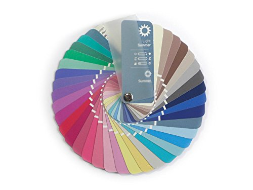 Farbpass Sommer (Light Summer) als kleiner Fächer mit 35 typgerechten Farben zur Farbanalyse, Farbberatung, Stilberatung