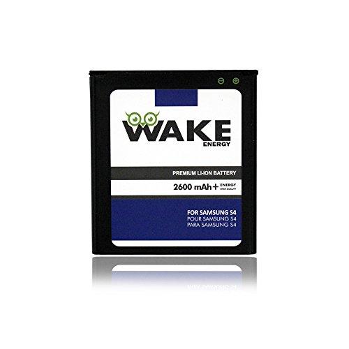 S4 Battery, WAKE 2600 mAh Replacement Battery for Samsung Galaxy S4 [I9500, I9505 LTE, I545 (Verizon), M919 (Tmobile), I337 (at&T), L720 (Sprint)] (B600BU) WAKE Brand