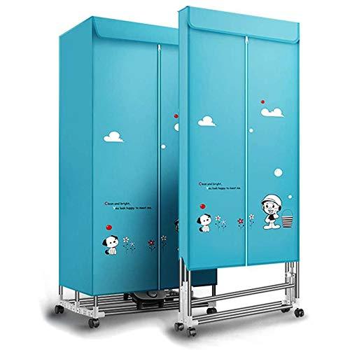TQMB Eléctrica Secadora de Ropa portátil Secado, Plegable 900w 2 Niveles Ropa Secadoras Calefacción, Aire Caliente de Secado Armario con Temporizador automático