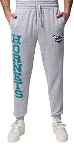 UNK NBA Herren Jogger Pants Active Basic Soft Terry Sweatpants, Team Logo Grau, Herren, NBA Team Jogger, Grau meliert, Small