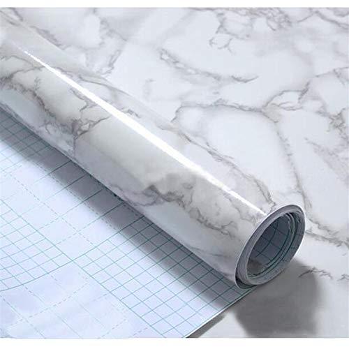 CDDSML Modern Waterproof Vinyl Self adhesive Wallpaper Marble Paper Kitchen Cupboard Shelf Drawer Liner Wall Stickers