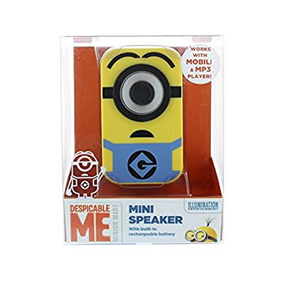 Minions Portable Mini Speaker with 3.5 mm Audio Jack and Rechargeable Battery from Lazerbuilt