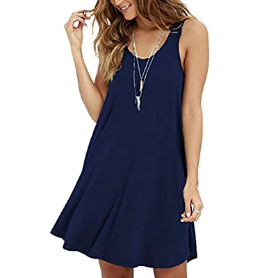 Women's Casual Swing Simple T-Shirt Loose Dress