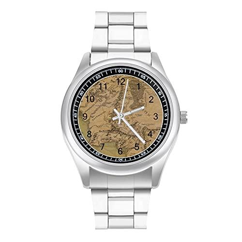 Reloj Lord Rings de la Tierra Media, simple atmósfera a la moda y hermoso estilo deportivo casual de negocios correa de acero reloj de pulsera