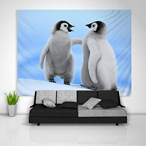 Muur Woondecoratie Art Abstract Olieverf Tapijt Deken Pinguïns Dier Tapijt Kunst Muur Opknoping Slaapbank Cover 200x150cm