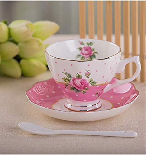 22222Tasse Kaffeetasse mit Untertasse und Löffel aus feinem Porzellan, lustiges Modedesign, Espressotassen, europäische Kaffeetasse A