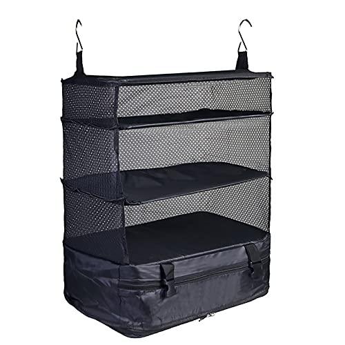 Organizzatore per bagagli, sistema di bagagli portatile di imballaggio cubo appeso scaffali da viaggio borsa di stoccaggio per i bagagli di viaggio risparmio di spazio