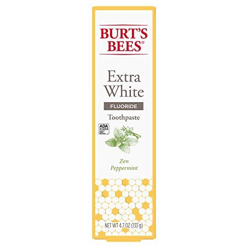 Burt's Bees Toothpaste with Fluoride, Extra White, Zen Peppermint, 4.7 oz (14)