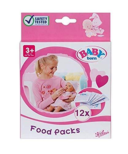 BABY born Puppen-Nahrung - Leicht für kleine Hände, Kreatives Spiel fördert Empathie & Soziale Fähigkeiten, Für Kleinkinder ab 3 Jahren - Inklusive 12 Beutel