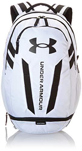 Under Armour Hustle 5.0, Zaino pc Unisex, White/Black/Black, Taglia Unica