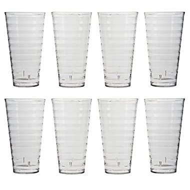 Splash 28-ounce Clear Plastic Tumblers | set of 8