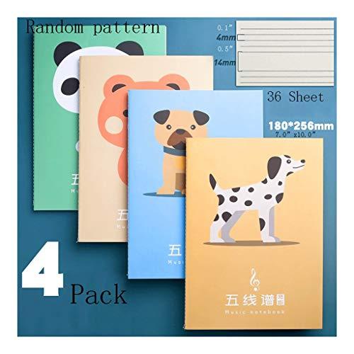 Cuadernos 4-Pack de la Hoja en Blanco Composición Musical: Manuscrito de la...