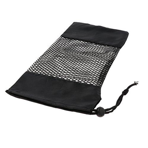 Sharplace Sac de Stockage Poche Organisateur Fermeture à Cordon, Sac de Outil de Camping, Pêche, Randonnée - Noir, 34x17cm