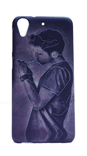 Case Creation Premium Imported Designer Printed Radium Dark Night Glow 3D Feel Hard Back Case Cover for HTC Desire 628 Dual SIM