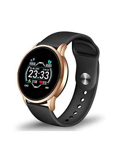 Roneberg RLF Sports - Reloj inteligente para mujer activa que quieren tener más control sobre su salud y condición física, monitor de sueño, información sobre llamadas entrantes.