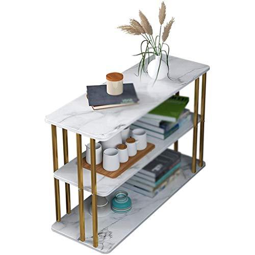 GQQ Schreibtisch, Home Storage Tisch, Marmor Textur Nier Bücherregal Wohnzimmer Akzent Tisch Villa Korridor Gang Konsolentisch Möbel Tische,Weiß,80 * 24 * 63Cm
