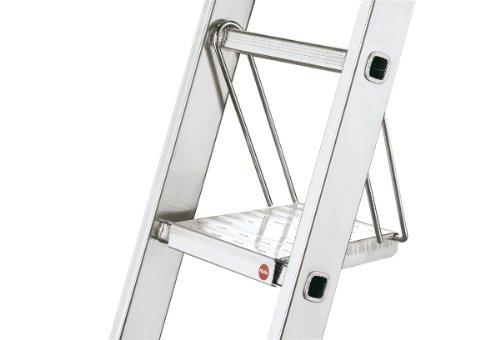 Hailo 9950-001 - Plataforma de trabajo antideslizante de aluminio para escalera
