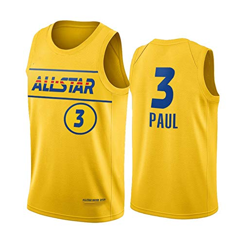 Phoenix Suns 3# Chris Paul Jersey, 2021 All-Star New Temporada Malla de Malla Baloncesto Swingman Jerseys Top para Hombres, Gimnasio Transpirable Chaleco Deportivo M