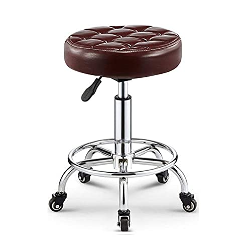 Table Hair Salon Salon Massage Chair (48-63CM) Lift Adjustment 360° Rotary Hydraulic Gas Lift Round Stool For Barber Shop/Nail Shop/Beauty Salon/Massage/Tattoo Shop (Color : C)