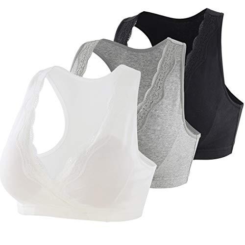 KUCI Still-BH für Schwangere, mit Spitze, kabellos, Bralette für Schwangerschaft - mehrfarbig - Large
