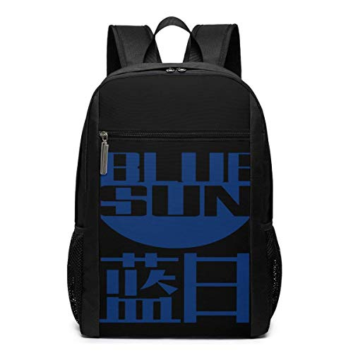 Lawenp Blue Sun Logo Backpack 17 Inch Laptop Bags College School Backpack Casual Daypack for Travel