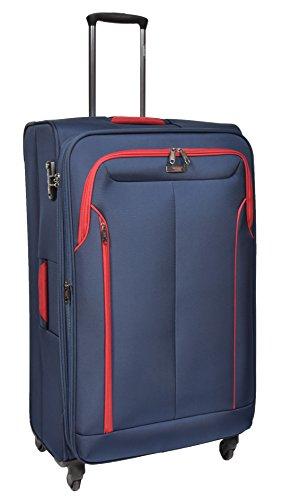 Large Check-in Size Luggage 4 Wheel Soft Suitcase Lightweight TSA Lock Expandable Bag HLG716 Blue
