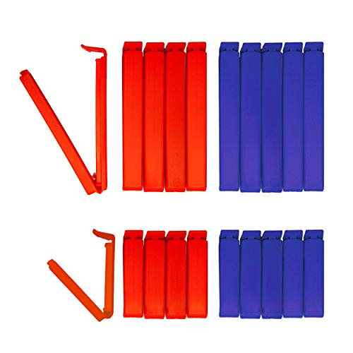 20 Tütenclips Edition New York BUNEO   20 Verschlussclips: 5 x blau (11 cm) + 5 x rot (11 cm) + 5 x blau (6 cm) + 5 x rot (6 cm)