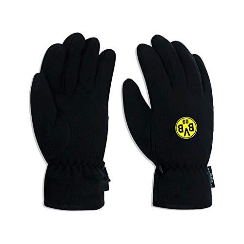 Borussia Dortmund Fleece Finger-Handschuhe BVB 09, Schwarz-Gelb, XL