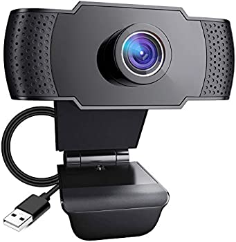 Pocut 1080P 110-Degree Widescreen Streaming Webcam with Microphone