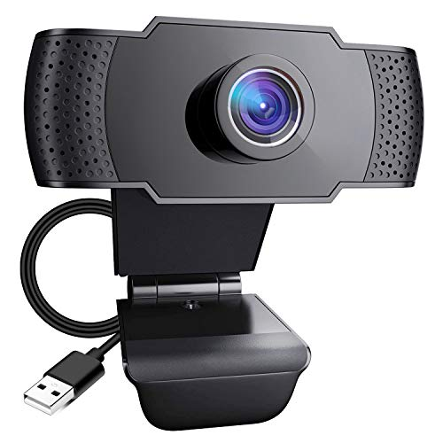 Pocut Webcam with Microphone  1080P HD USB Webcam  110° Widescreen Streaming Webcam  Plug and Play USB Webcam for PC Video Recording Calling Online Classes and Conferencing for Laptop/Desktop Mac