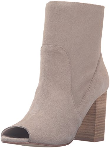 Chinese Laundry Women's Tom Girl Peep Toe Boot, Taupe Suede, 5 M US
