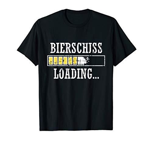 Bierschiss loading Lustiges retro Vintage Malle T-Shirt