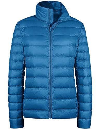 Wantdo Women's Winter Coats Outwear Packable Lightweight Down Coat Acid Blue M