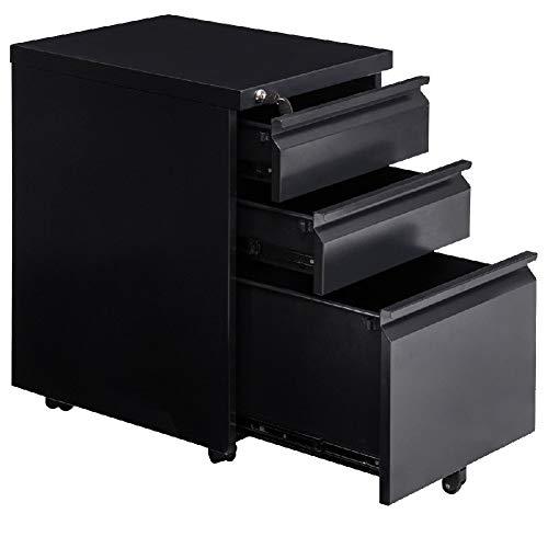 Cabinet Filing Drawer File Pedestal Office Work Storage Rolling Shelves