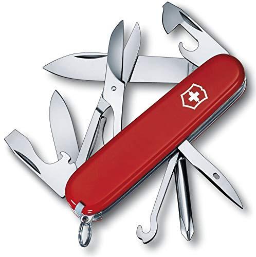 Victorinox Super Tinker Taschenmesser, 14 Funktionen, Schere, Phillips-Schraubendreher, rot B1