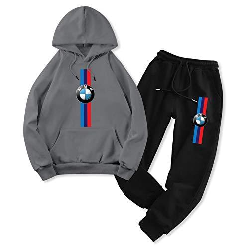 Unisex M Car Sports Fans Hoodies Set Pullover Pants Two-Piece Sweatshirt Sweatpants Suit for Mens Womens