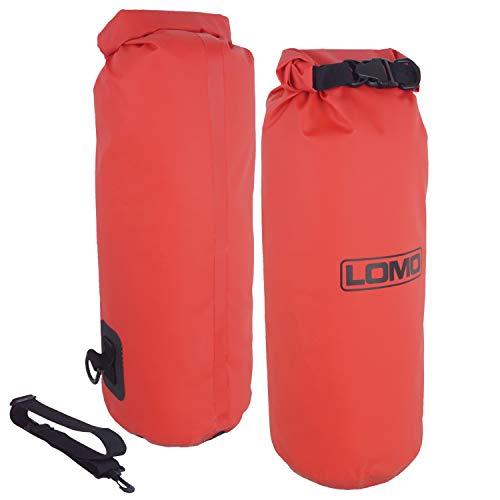 Lomo - Sacca stagna - dry bag - con tracolla- 12 litri -rosso