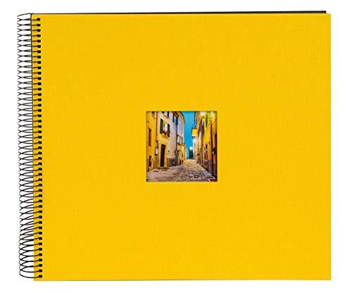 Goldbuch Spiralalbum mit Bildausschnitt, Bella Vista, 35x30 cm, 40 schwarze Seiten, Leinen, Gelb, 25 971