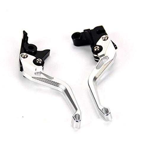 Auzkong Palancas de embrague de freno cortas ajustable para Yamaha YZF R1/R1M/R1S 2015-2019, YZF R6 2017-2019 Plata