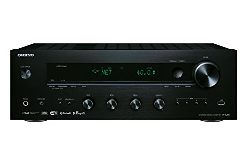 Onkyo TX-8250(B) Stereo Receiver (Hifi Verstärker 135 W/Kanal, Multiroom, WLAN, Bluetooth, Streaming, Musik Apps (Spotify, Tidal, Deezer), DAB+, Front USB/Audio in), Schwarz