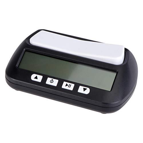 Kisangel Reloj de Ajedrez Digital Temporizador de Ajedrez para Juegos de Mesa Ajedrez Chino Inglés sin Batería