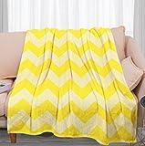 Mantas Invierno Graffiti Geométrico Amarillo - 3D Suave Cálida Manta Impresión Manta Franela de Felpa Soft Cálidas - Multiuso de Manta Bebe-para sofá de Oficina y Dormitorio,130x150 cm