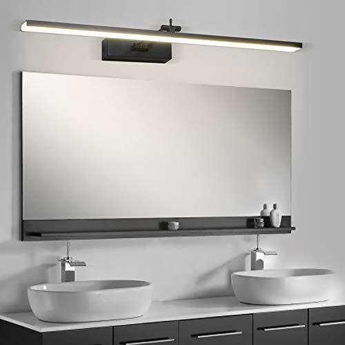 Wowatt Lámpara de Espejo Baño LED 220V Aplique Espejo 16W 1280LM 69cm Orientable Blanco Neutro 4000K Luz de Espejo Moderna para Muebles de Maquillaje Dormitorio Armario Estudio Lavabo Hotel Cafetería