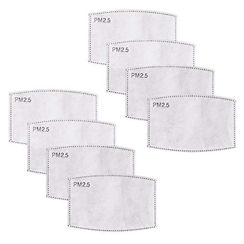 FLOWZOOM Kompatibler Filter Stoffmaske | 8er-Pack | Zur besseren Reinigung der Atemluft | Aus mehreren Schichten wie Aktivkohleschicht und Schmelzblasschicht gefertigt (8er-Pack)