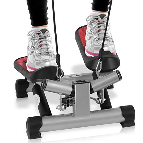 Fitness Exercise Elliptical Twister Stepper -Upgraded Quality Steel, Easy Under Desk Workout, Digital Display, Resistance Band Elliptical Trainer Burns 15% More Calories Than a Exercise Bike