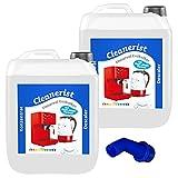 Cleanerist - Descalcificador universal para cafeteras automáticas y máquinas de café   Adecuado para todas las marcas conocidas   Eliminador de cal extra profundo – 2 x 10 litros
