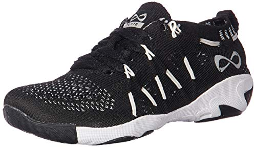 Nfinity Women's Flyte Night Cheer Stunt Shoe Sneaker, Black, 9