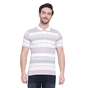 Monte Carlo Men's Striped Regular Fit Cotton Blend T-Shirt 15 41m8vS7k1BL. SS300